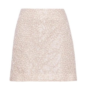 Theory Mini Skirt Silver and cream