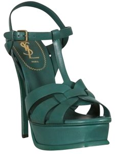 Saint Laurent Green Platforms