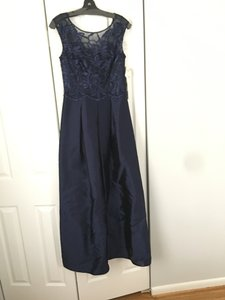 Kay Unger Navy Dress