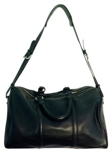 Charles Jourdan Large Pebble Leather Satchel in black
