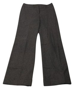 Semantiks Wool Slacks Work Pattern Wide Leg Pants Brown