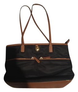 Michael Kors Tote in Black with Brown Accents