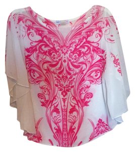Body Central Top White and pink