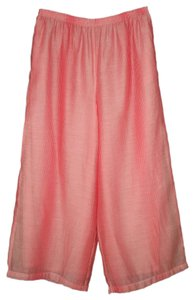 IC by Connie K Wide Leg Cropped Coral Stripe Pants