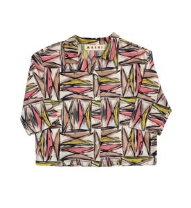 Marni Multi Color Print Cotton Shirt Sweatshirt