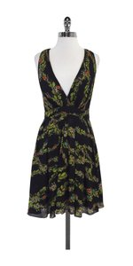 Nicole Miller short dress Black Twist Back Floral on Tradesy