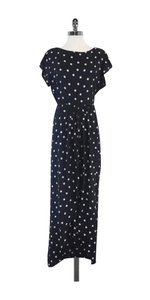 Maxi Dress by Oscar de la Renta Black White Polka Dot Maxi