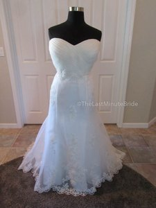 Kenneth Winston Ivory Tulle & Lace 3366 Destination Wedding Dress Size 24 (Plus 2x)