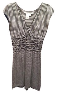 Max Studio short dress Gray and navy stripe on Tradesy