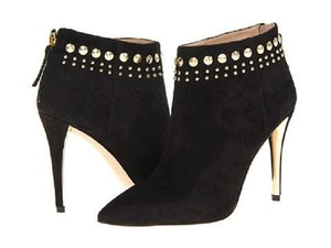 Joan & David Black Suede Boots