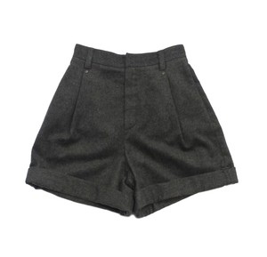 Chloé Grey Wool High Waisted Shorts