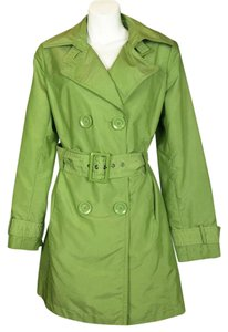Style & Co Double Breasted Belt green Jacket