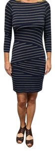 Anthropologie short dress Navy Stripe on Tradesy