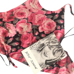 Betsey Johnson Pink and black Halter Top