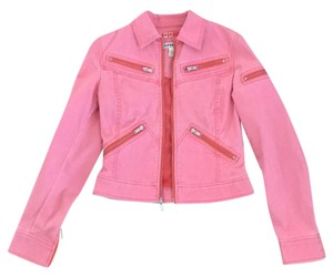 Express Pink Womens Jean Jacket