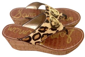 Sam Edelman Brown and Cheetah Wedges