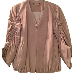 Diane von Furstenberg Tan Leather Jacket