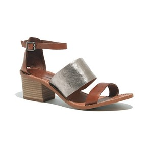 Madewell Everyday Classic Comfortable Tan/Silver Sandals