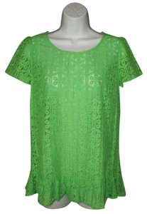 Lilly Pulitzer Darla Lace Green Bow Top