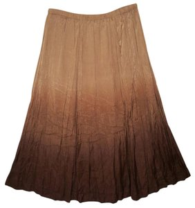 Chico's Ombre Rayon Maxi Crinkled Maxi Skirt