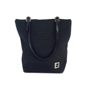 Fendi Monogram Canvas Mini Tote in Black