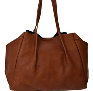 Big Buddha Leather Tote in Brown