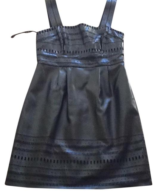 Item - Leather A Line Above Knee Night Out Dress Size 6 (S)