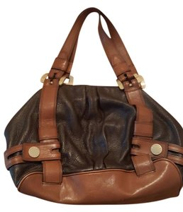 Michael Kors Leather Work Day Tote in Brown