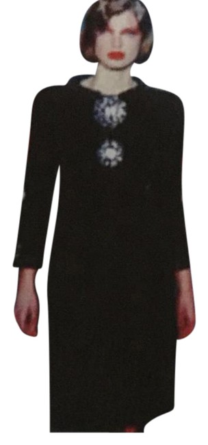 Item - Black Jacket and Chocolate Bar Details Runway Skirt Suit Size 6 (S)