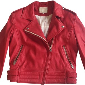 IRO Biker Leather Red Leather Jacket