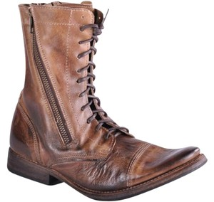 Bed|Stü Rustic Vintage Leather Vintage Look Boho Distressed Tan Boots