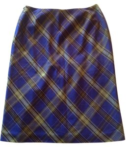 Petite Sophisticate Plaid Skirt Purple