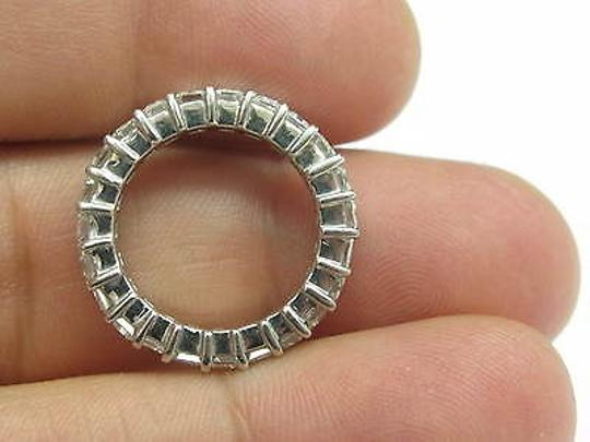 Other Fine,Emerald,Cut,Diamond,Shared,Prong,Eternity,Band,Ring,White,Gold,5.75ct,Sz8.5