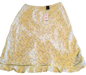 Express Flounce Skirt Green, yellow, brown, white floral