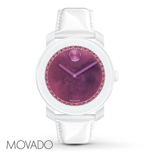 Movado NWT Women'S BOLD White Leather watch 3600269