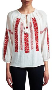 Joie Top White/Red