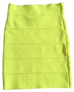 BCBGMAXAZRIA Skirt Electric yellow