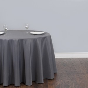 Charcoal Gray Tablecloth Polyester