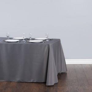 Charcoal Gray Tablecloth Polyester - Rectangle