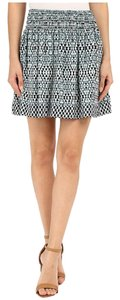 Joie Mini Skirt Haze Blue Pattern