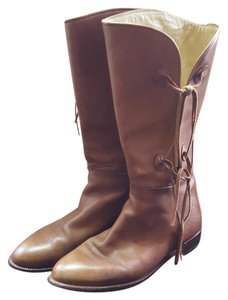 Manolo Blahnik Rider Leather Vintage Brown Boots