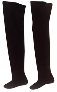 Isabel Marant Otk Suede Leather Pull On Black Boots