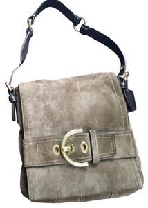 Coach Suede Leather Classic Shoulder Bag