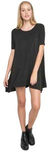 Brandy Melville short dress Dark Grey Swing One Size Fits All on Tradesy