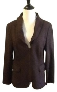Yansi Fugel 67% Rayon 29% Nylon 4% Nylon Made In China Dry Clean Chocolate Blazer