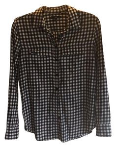 Gap Button Down Shirt Black and white
