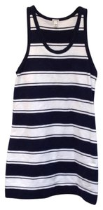 J.Crew short dress Navy White Racerback Cotton Striped Sleeveless Sleeveless on Tradesy