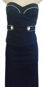 bebe Skirt Blue w/ White polka dots