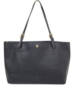 Tory Burch Saffiano Leather Tote in Navy