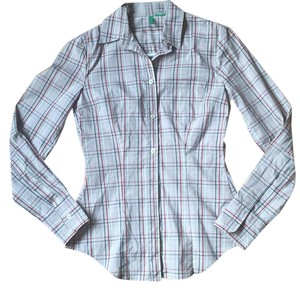 United Colors of Benetton Button Down Shirt Multi colored plaid